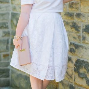 white tibi midi skirt